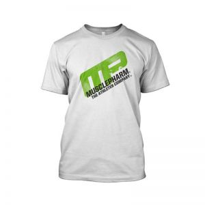 Musclepharm Distressed Short Sleeve- White