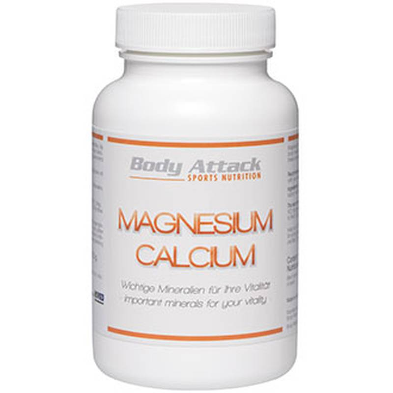 Body Attack Magnesium Calcium, 250 Tabl.