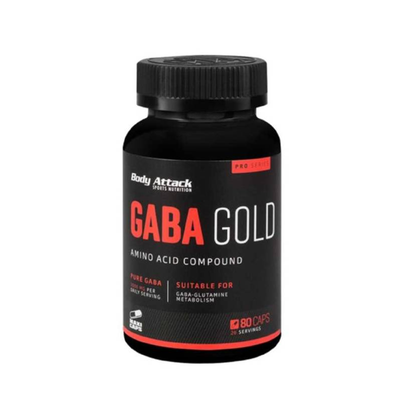 Body Attack GABA Gold, 80 Kaps.