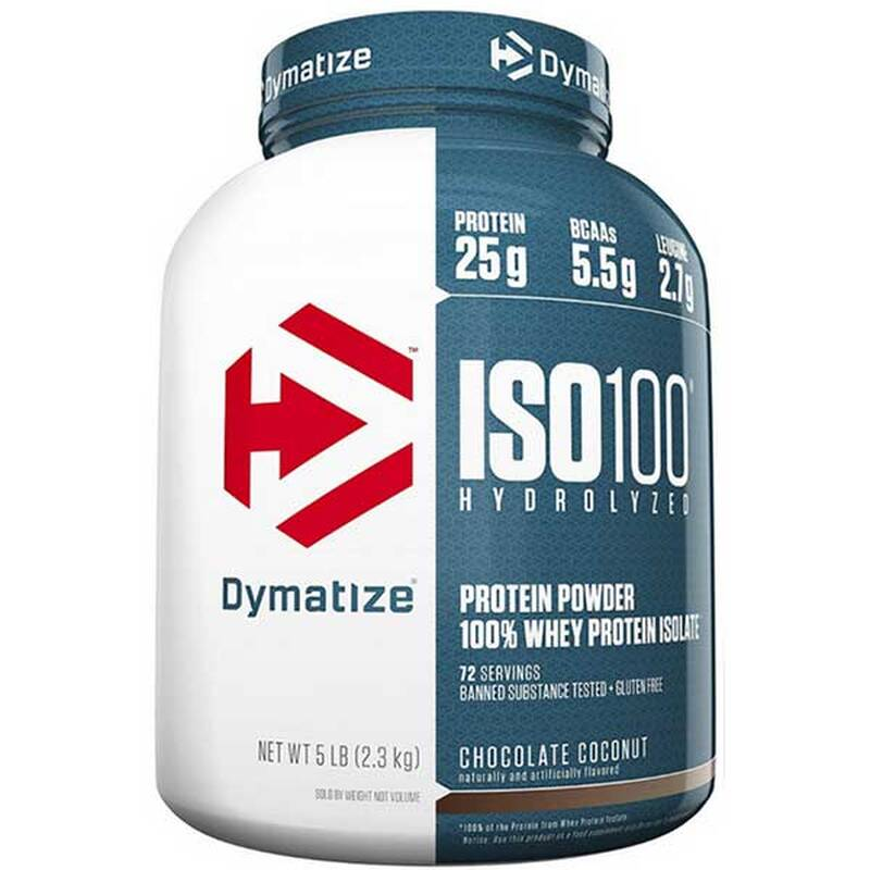 Dymatize Iso 100 Whey Protein, 2200g Fudge Brownie